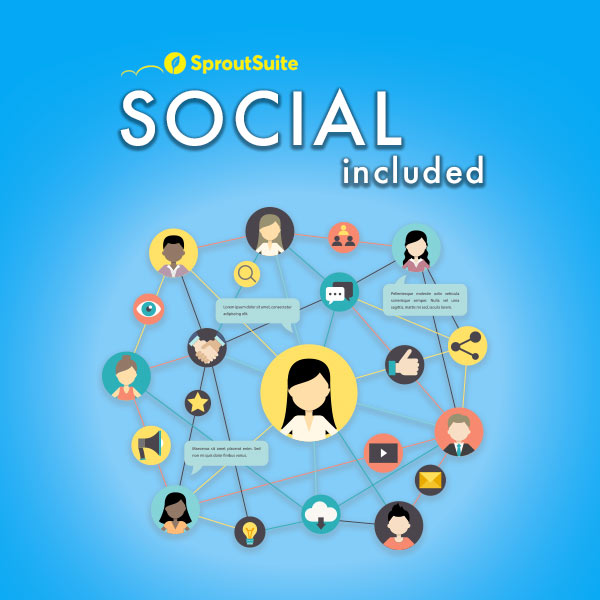 social media included in marketing package