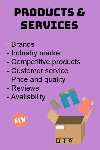 products and services as far as marketing is concerned