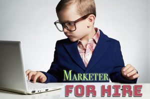 An online marketer for hire