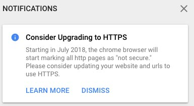 consider going from http to https